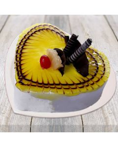 Buy Pineapple Heart Shape Cake Online