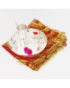 Buy Silver Pooja Thali And Accessories Online
