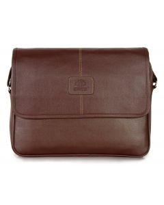 Trendy Brown Side Laptop Bag