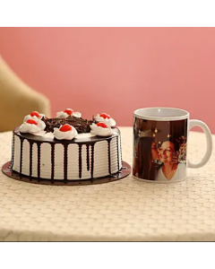 Black Forest Cake with Personalised Mug