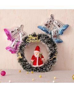 Buy Red Santa and Wall Hanging with Wreath Online