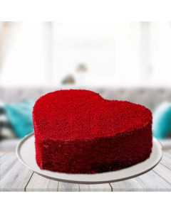 Mouth-watering Red Velvet Heart Cake