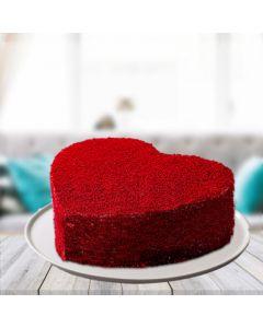 Mouth-watering Red Velvet Heart Cake