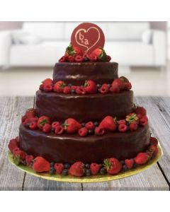 Chocolate Tower Strawberry Choco Cake