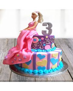 Barbie Birthday Cake for Girls