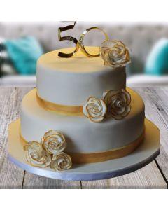 Golden jubilee Butterscotch Cake