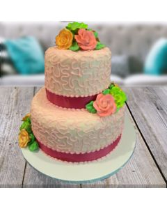 2-tier Choco Vanilla Cake
