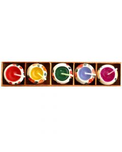 Buy colourful Painted Candle Set Box Online