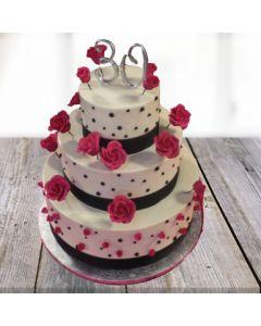 3-tier Vanilla Queen Cake