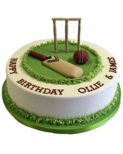 Black Forest Fondant Cricketers Cake