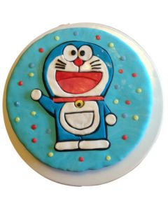 Delicious Doraemon Fondant Cake for Kids