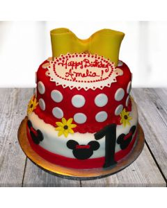 Yummy Minnie Mouse 2-Tier Cake