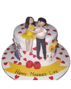 Happy Marriage Cake