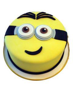 Funny Minion Fondant Cake