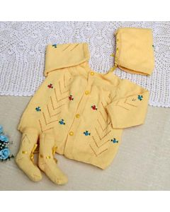 Yellow Winter Care Set for Baby