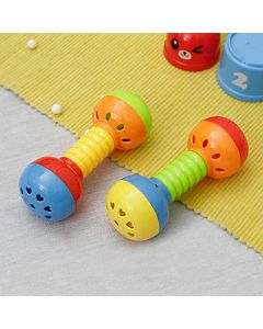 Dumbell Rattle Set for Newborn Baby