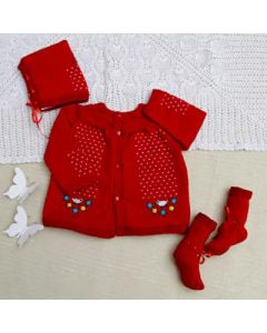 Red Winter Care Kit for Babies