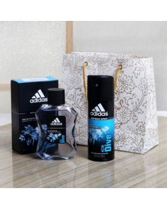 Adidas Ice Dive Perfumes and Deodorant Set for Men