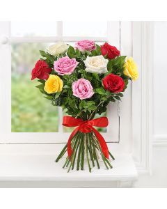 Bunch Of Mixed Colored Roses