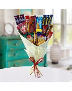 Bouquet of Mixed Chocolates & Snacks