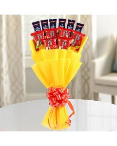 Dairy Milk With Choco Pie Bouquet