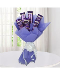 Beautiful chocolate silk bouquet