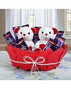 Chocolate With Tedday Basket