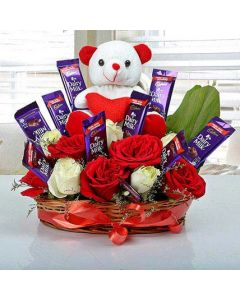 Best Gift of Surprise With Teddy and Dairymilk