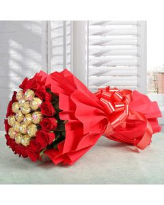 Flower With Rocher Bouquet