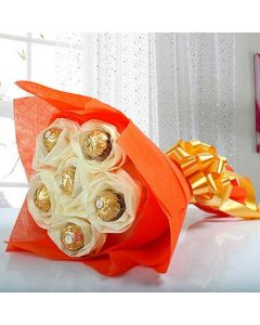 6 pcs Ferrero Rocher Chocolate Bouquet
