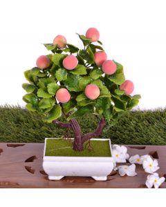 Best Decor of Artificial peach Flower Plant