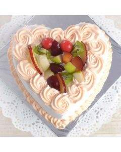 Yummy Heart Shaped Delicious Cake