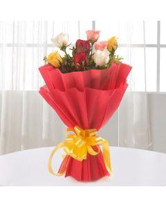 Beautiful 8 Mix Roses