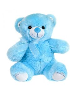 Adorable Blue Teddy With A Balloon Heart Soft Toy