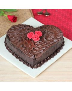 Anniversary Special Heart Shaped Chocolate Cake