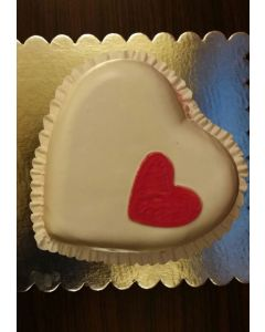 Lovely Heart Shaped white Cake