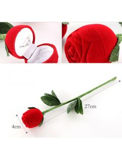 Artificial Rose Ring Case For Special Valentine Gift