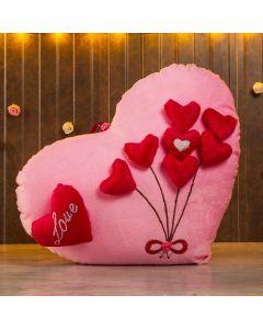 Beautiful Heart Shaped Pink Love cushion