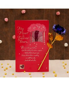Love Card With Artificial Rose