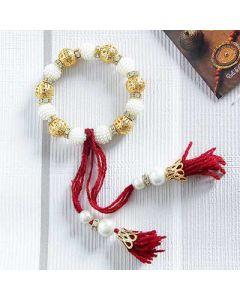 Buy Pearl Lumba Bracelet Rakhi Online