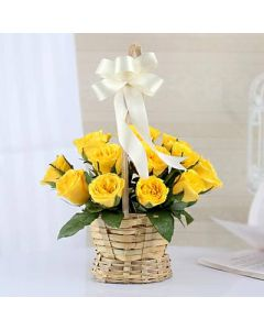 Yellow Basket for Any Occasion