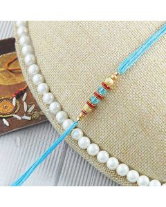 Buy Blue Beaded Thread Rakhi Online