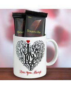 Chocolates and I Love You Mug
