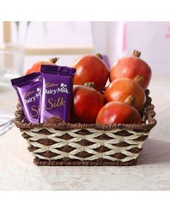 Pomegranates with Cadbury Dairy Milk Silk