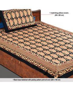 Block Printed Sangneri Bedsheet