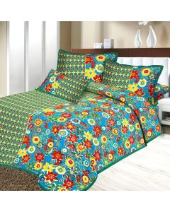 Bedsheet And Pillow Covers WIth Floral Print