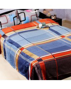 Double Size Blanket With Color Check