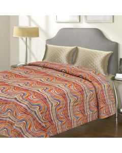 Colourful Cotton Printed Bed Cover