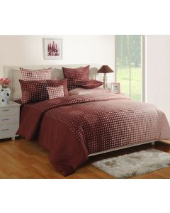 Brown Colour Printed Bedsheet With Matching Pillow Covers