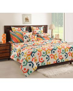 Colourful Bedsheet With matching Pillow Covers